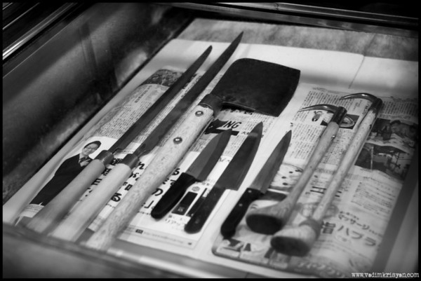 Essential Tools & Cutlary for Tuna, Tokyo, 2014