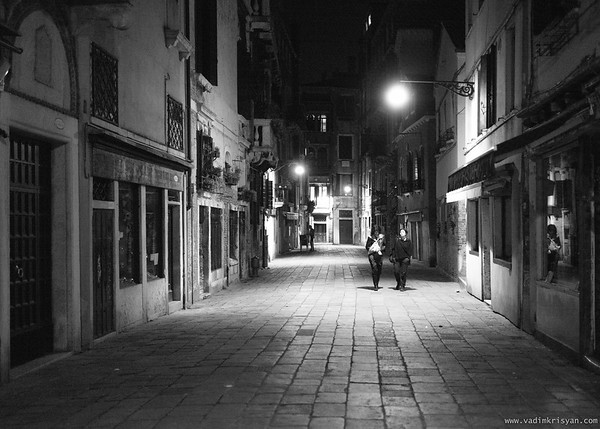 Street of San Polo at Night, Venice, 2016