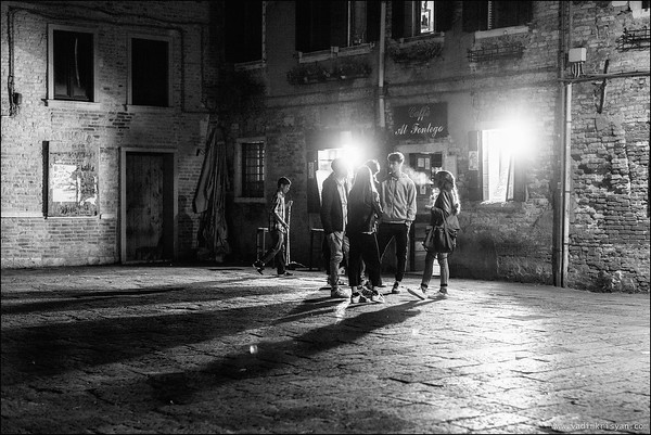 Late Night in Campo Di Santa Margherita corte del calderer, Venice, 2016