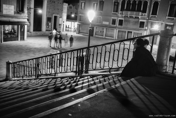 Alone at Night, Venice, 2016