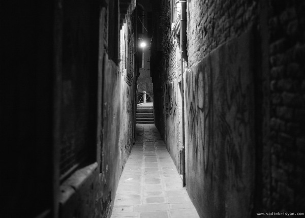 Calle at Night, San Polo Sestiere, Venice, 2016, Sestiere, Venice, 2016