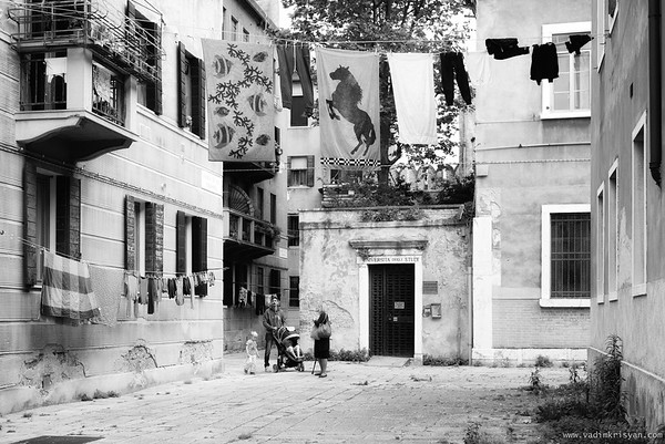 Hang Laundry in Castello, Venic,e, 2016