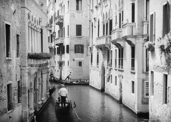 Canals and Gondolas, Venice, 2016