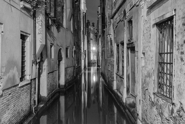 Narrow Canal in Cannaregio, Venice, 2016