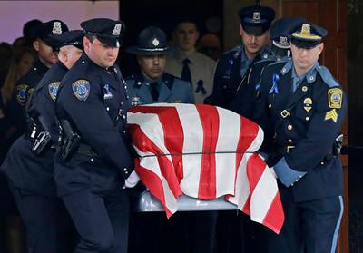 Officer Shot Massachusetts