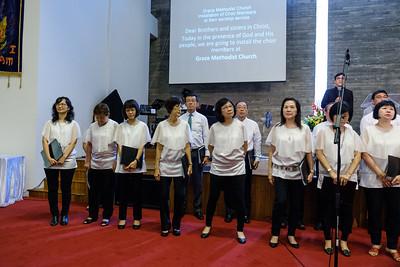 GMC Choir Installation Service 2017