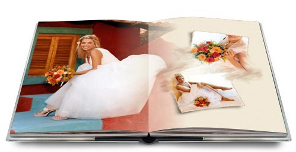 With our seamless binding, our albums can feature a photo that spreads over two pages.