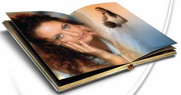 The pages are printed on a thick high quality photographic paper for a luxurious feel.