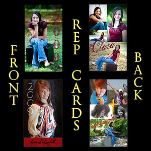 <h3> Check out what's new @ L Photography... <br> REP CARDS... a unique way to share your senior pics with friends and family. These 2 x 3 1/2 inch cards are custom designed with your choice of favorite photos and can be printed on a variety of paper styles. Choose from linen, lustre, or watercolor paper! Photos are printed on FRONT AND BACK!!!<h3>