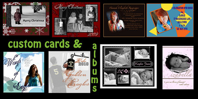 <h3>Holidays, announcements, special occasions... L Photography will work with you to create beautiful custom made cards for any occasion. Custom albums/coffee table books  are also available.  Contact L Photography for pricing.<h3>