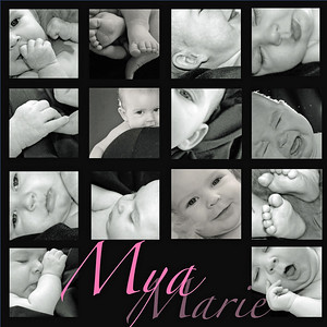 <h3>Capture the many faces and images of your infant, or child of any age! A collage is a way  to display a combination of photos as a unique work of art.<h3>