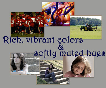<h3>Bold, bright colors or soft, subtle hues can define a picture. That is part of the artistry of L Photography.<h3>