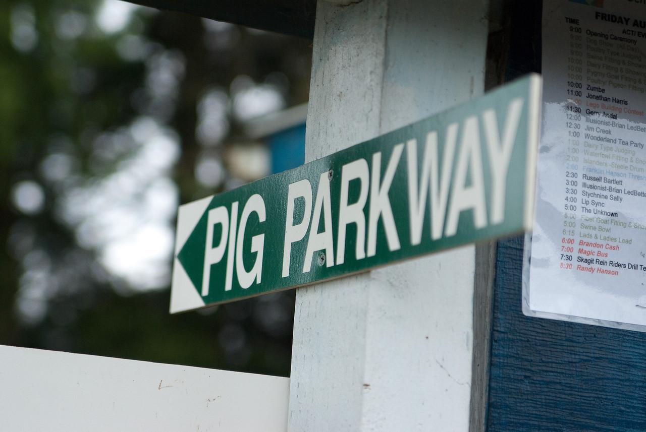Another sign from the Stanwood-Camano Island Camano Fair. Stanwood, Washington.