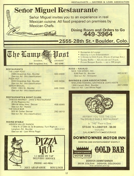 1972 CU Directory (scanned and donated by Tom Adams thanks)