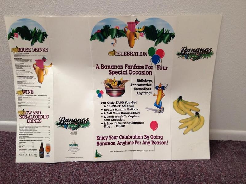 Banana's menu back (found by Dale Basescu, thanks)
