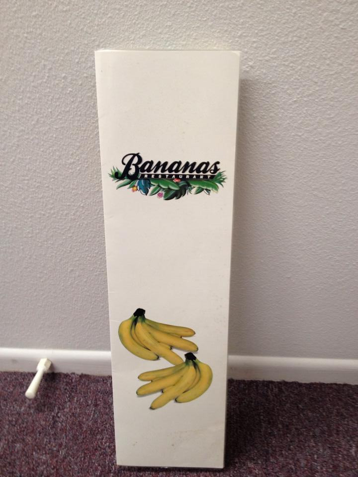 Banana's menu cover (found by Dale Basescu, thanks)