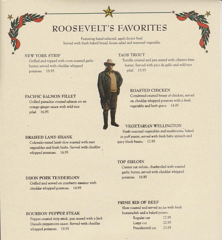 Teddy Roosevelt's (found by Sally Helmboldt Plummber, thanks)