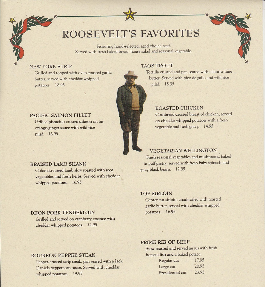Teddy Roosevelt's (found by Sally Helmboldt Plummber, thanks)