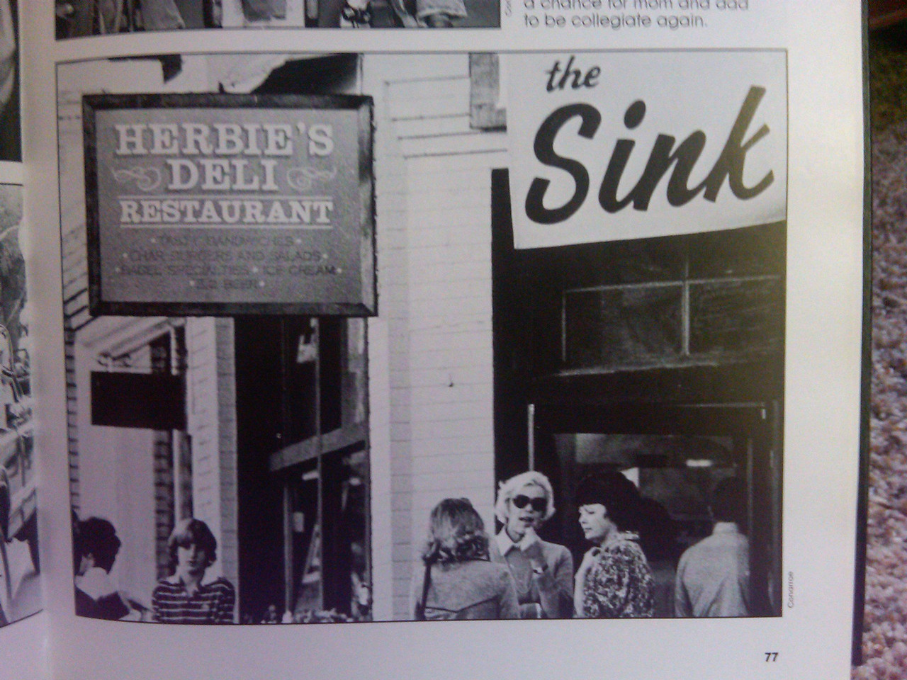 The Sink and Herbie's Deli (found by Michael Ward, thanks)