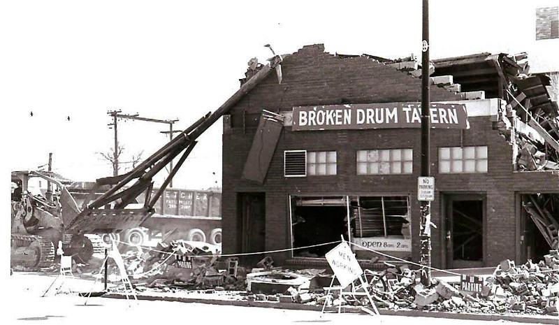 Broken Drum demolition (found on Michael Henthorne-70s page, thank you)