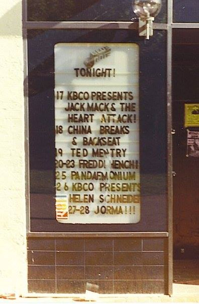 Blue Note Lineup (found by Rick Jones, thanks)