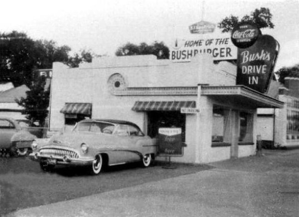 Bush's Drive In 1955 - where Mustards Last Stand is now (Bob Bush, Daily Camera)
