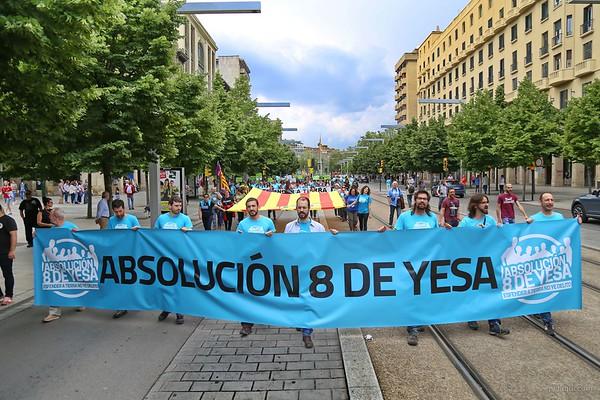 2016-05-22 8 de Yesa, manifestación en Zaragoza