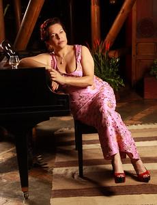 Coral Lombana, cantante de jazz venezolana.