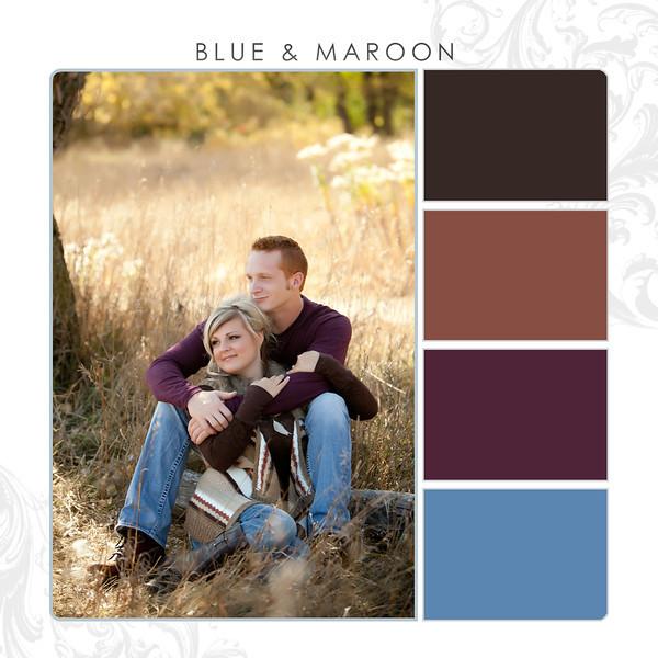 Blue-Maroon