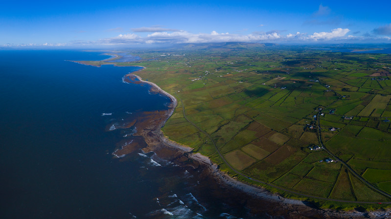 aerial landscape from lissadell to Mullaghmore