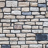 A cobble stone brick wall