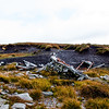 World War II B-17 flying fortress plane crash on Tievebaun Mountain, Dartry Mountains.  Sligo, Ireland.