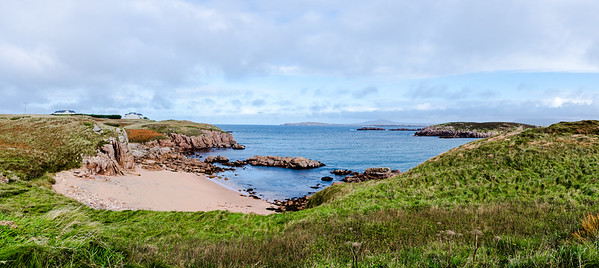 Landscape of Cruit Island and the North Atlantic Ocean.  Donegal, Ireland.