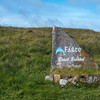 Stone sign at Cruit Island.  Failte Ireland.
