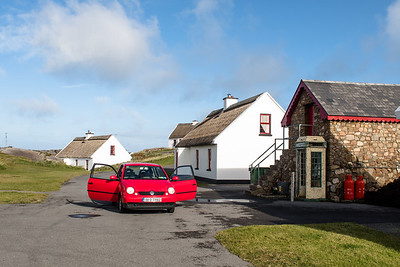 Irish Thatched houses on Cruit Island, Donegal.