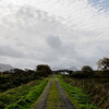 A country road in Lietrim Ireland leading towards Benwisken, Dartry Mountains.