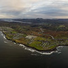 Aerial Panorama of Bundoran, rossnowlagh to Mullaghmore and the Dartry Mountains.
