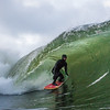 Conor Maguire surfing Blackspot left Januray 5th, 2018