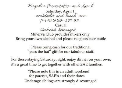 Magnolia Weekend Invitation