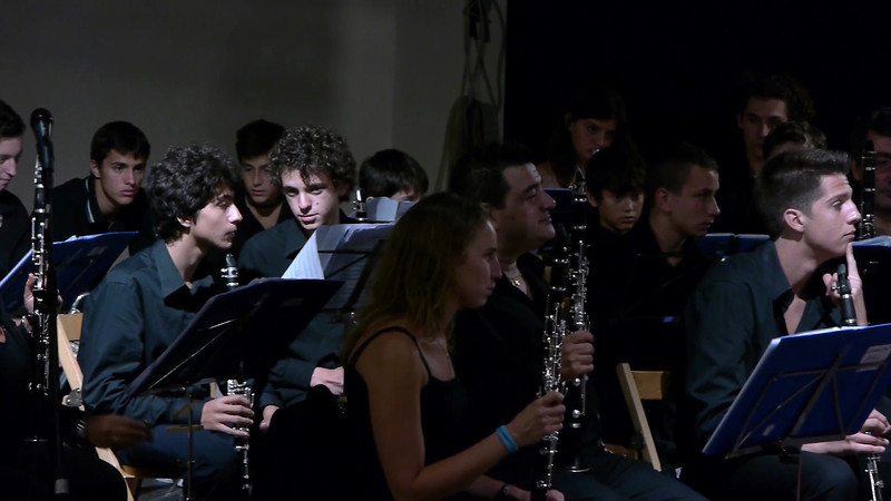 """""""Sinfonietta latino-americana"""" arrangiata da Giuseppe Olivieri. Filarmonica di Sestri Levante diretta dal maestro Francesco Gardella. Tromba solista Marco Callegari, trombone solista Roberto Stagnaro."""
