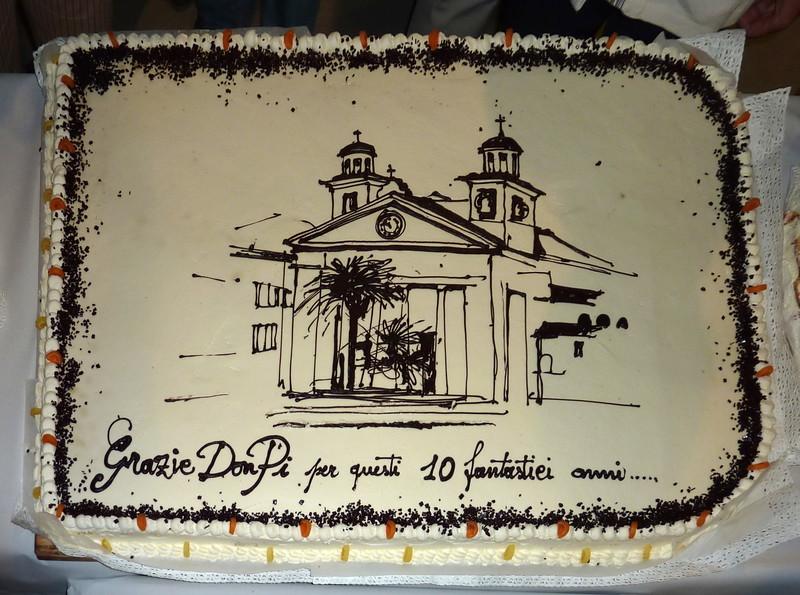 Sestri Levante, 24 settembre 2010: festeggiamenti per il congedo di don Giuseppe Carpi, stimato parroco di Santa Maria di Nazareth nominato parroco di Santo Stefano del Ponte.