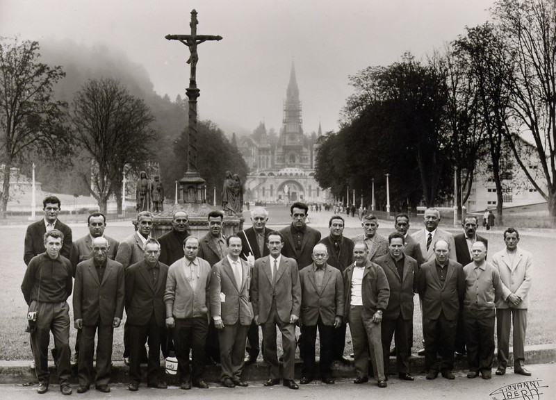 15th October 1968: pilgrimage to Lourdes for the people of Sestri Levante.<br /> <br /> 15 ottobre 1968: sestresi in pellegrinaggio a Lourdes