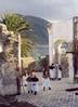 Sestri Levante 2000; the members of the St Catherine's confraternity get ready for a procession.<br /> <br /> Sestri Levante, 2000: i memebri della confraternita di Santa Caterina si preparano per una processione fra le rovine della chiesa dedicata alla santa.