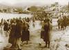 Holy Saturday in Sestri Levante; people washing their face into the sea.<br /> <br /> Sabato Santo a Sestri Levante; i parrocchiani si lavano il volto in mare.