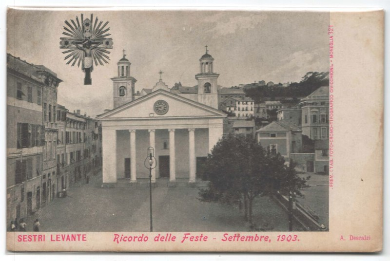 A 1903 postcard representing the church of St. Mary from Nazareth and the Santo Cristo (Holy Cross)<br /> <br /> Una cartolina del 1903 con la chiesa di Santa Maria di Nazareth ed il Santo Cristo.