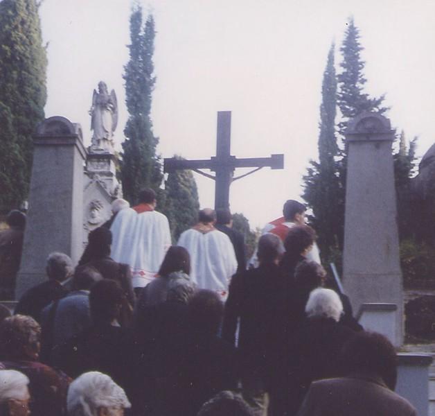1994: Santo Cristo at Sestri Levante's cemetery.<br /> <br /> <br /> 1994: il Santo Cristo al cimitero di Sestri Levante.
