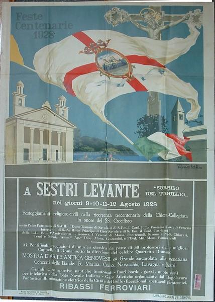 A poster from 1928 about the venticinquennial celebration.<br /> <br /> Un manifesto del 1928 riguardo alle celebrazioni venticinquennali.
