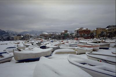 Snow in Sestri Levante  Sestri Levante innevata