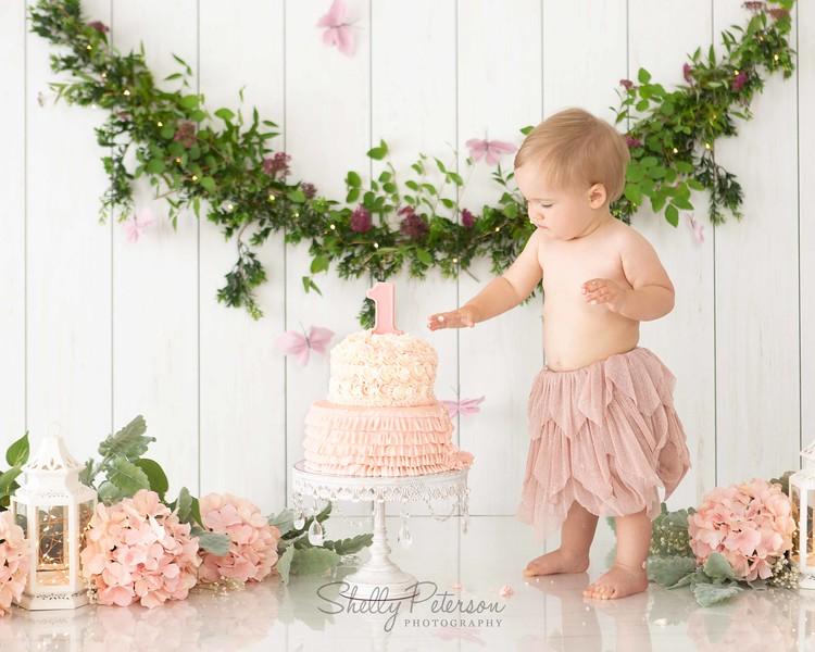 Peach Garden Cake Smash