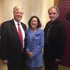 From left, John and the Honorable Barbara Pearson and Jay Linnehan, all of Lowell